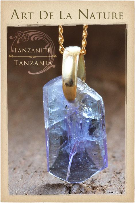 【天然石ペンダント】タンザナイト・ペンダントトップ(ネックレス別売)非加熱天然石(Bランク)