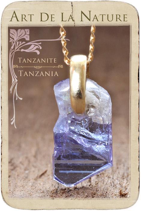 【天然石ペンダント】タンザナイト・ペンダントトップ(ネックレス別売)非加熱天然石(Aランク)