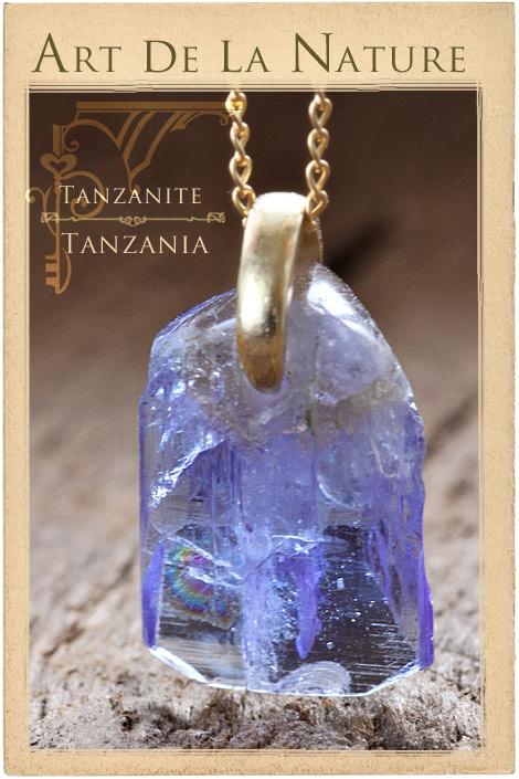 【天然石ペンダント】タンザナイト・ペンダントトップ(ネックレス別売)非加熱天然石(Sランク)