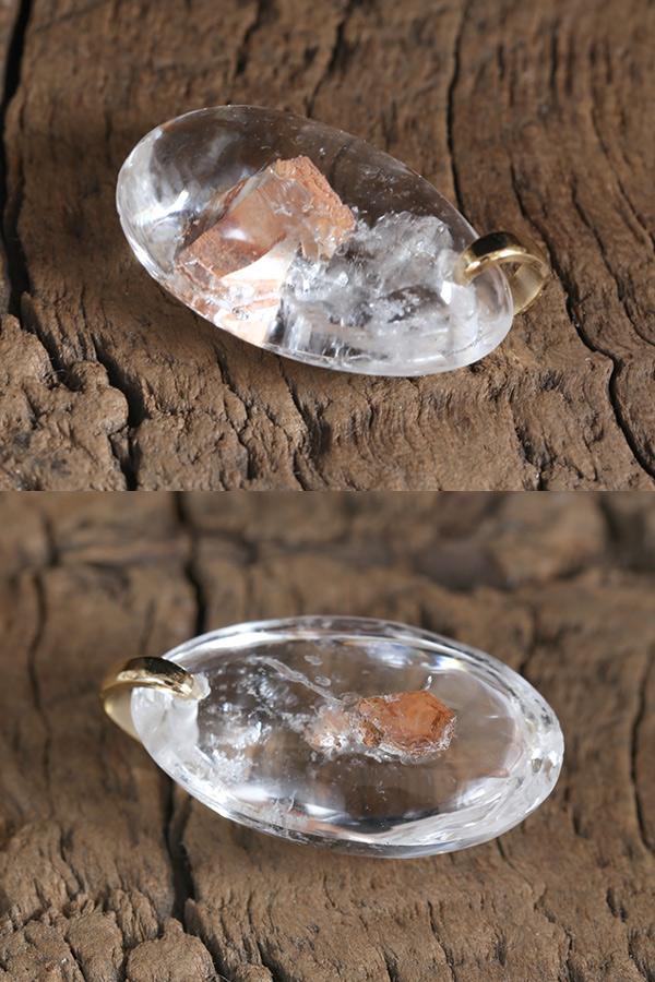 【天然石ペンダント】クォーツインクォーツ(貫入水晶)・ペンダントトップ(ネックレス別売)
