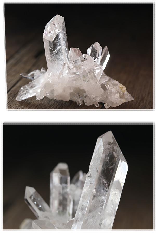 【ブラジル産】トマスゴンサガ水晶・クラスター原石(プライザー人形付)AAA品質