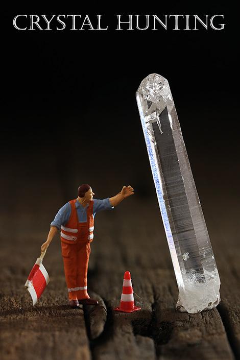 【ネパール産】エベレスト水晶・ポイント原石(プライザー人形付)AAA品質