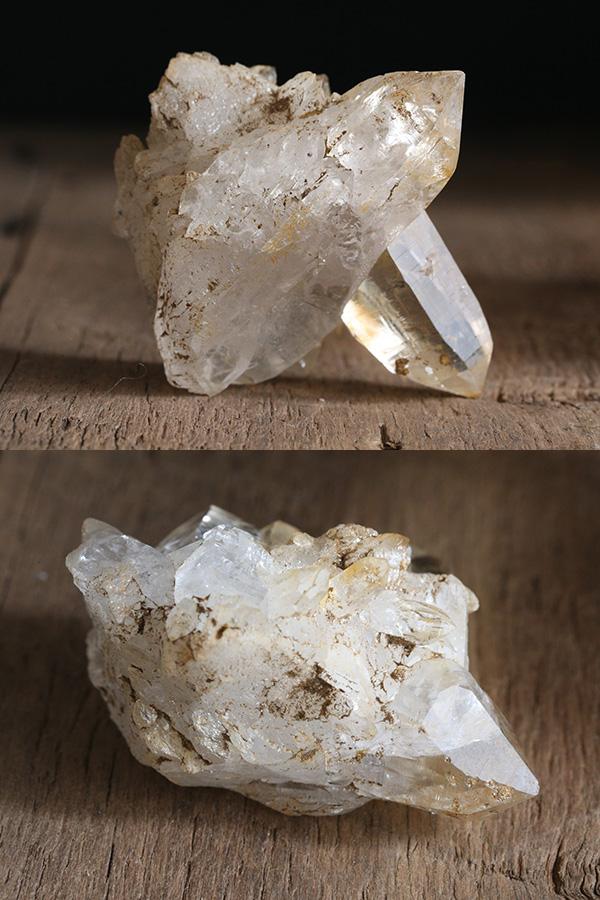 【ガネーシュヒマール・ティップリン産】ヒマラヤ水晶・クラスター原石(双晶・ゴールデンヒーラー)